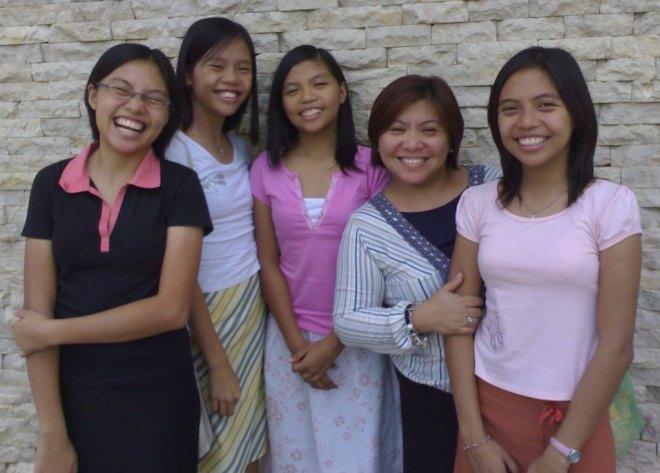 Myco, April, Sarah, Mommy, and Ella ♥