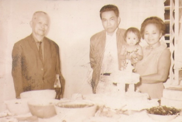 Lolo and Lola with Ate Maritess. This was taken during Papa and Mama's Wedding Reception ♥