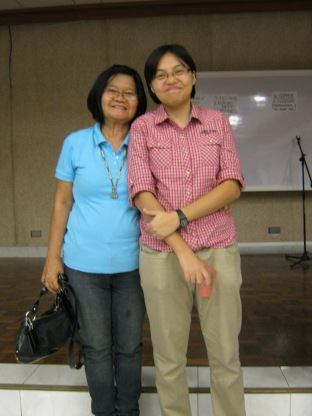 With Sister Ligaya